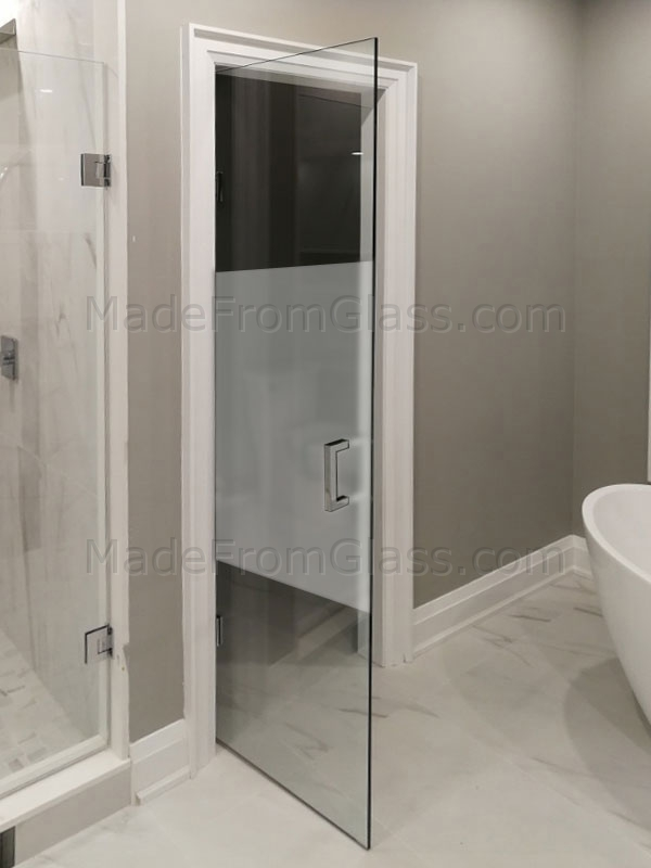 Frosted Glass Doors Toronto. Privacy Glass Doors.