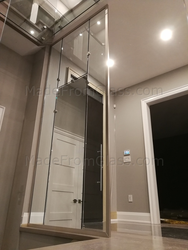 Glass and Mirror Wall