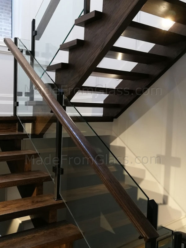 Glass Railings with Wood Hand Rail