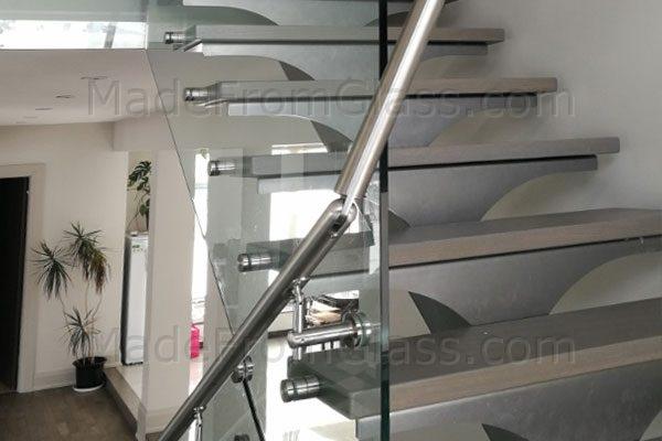Glass Railings with Side Hand Rail