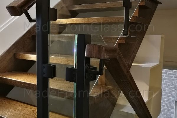 Glass Railings with Black Posts