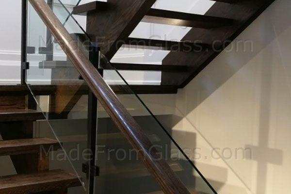 Glass Railings with Wood Hand Rail