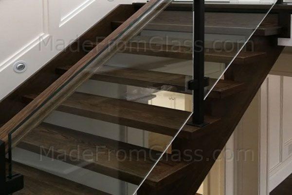 Glass Railings for Oak Staircase