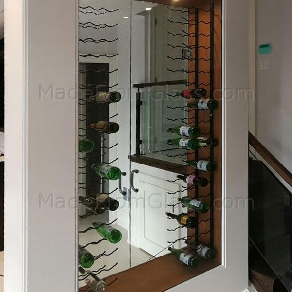 Built-In Glass Wine Cabinet
