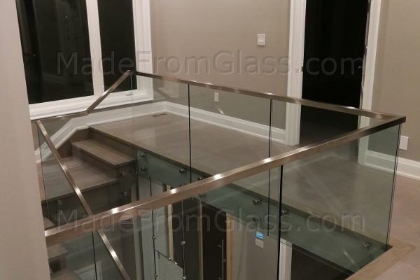 Toronto Glass Railings with Square Cap Rail